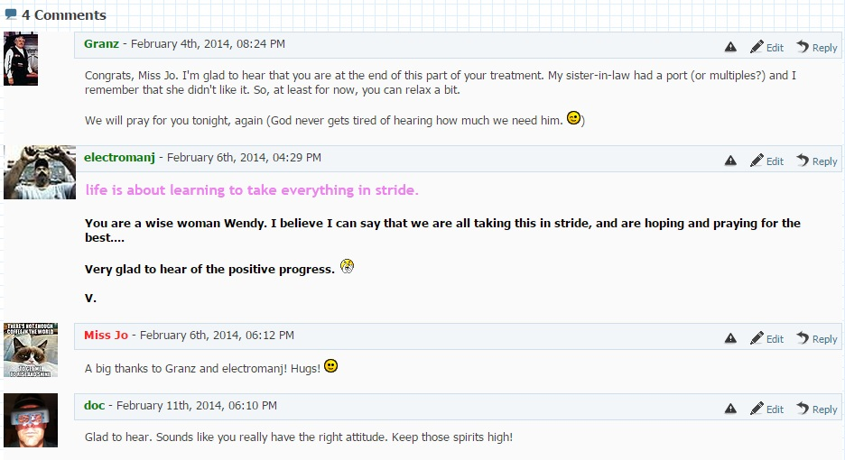 Comments from the old website.