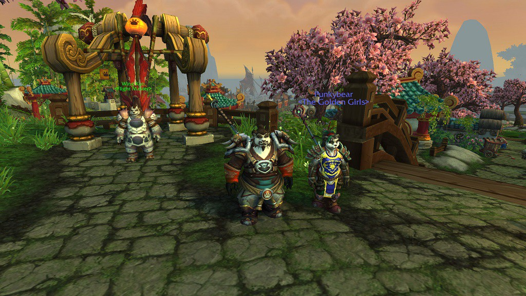 Punkybear (and Pookybear, left) in Pandaria